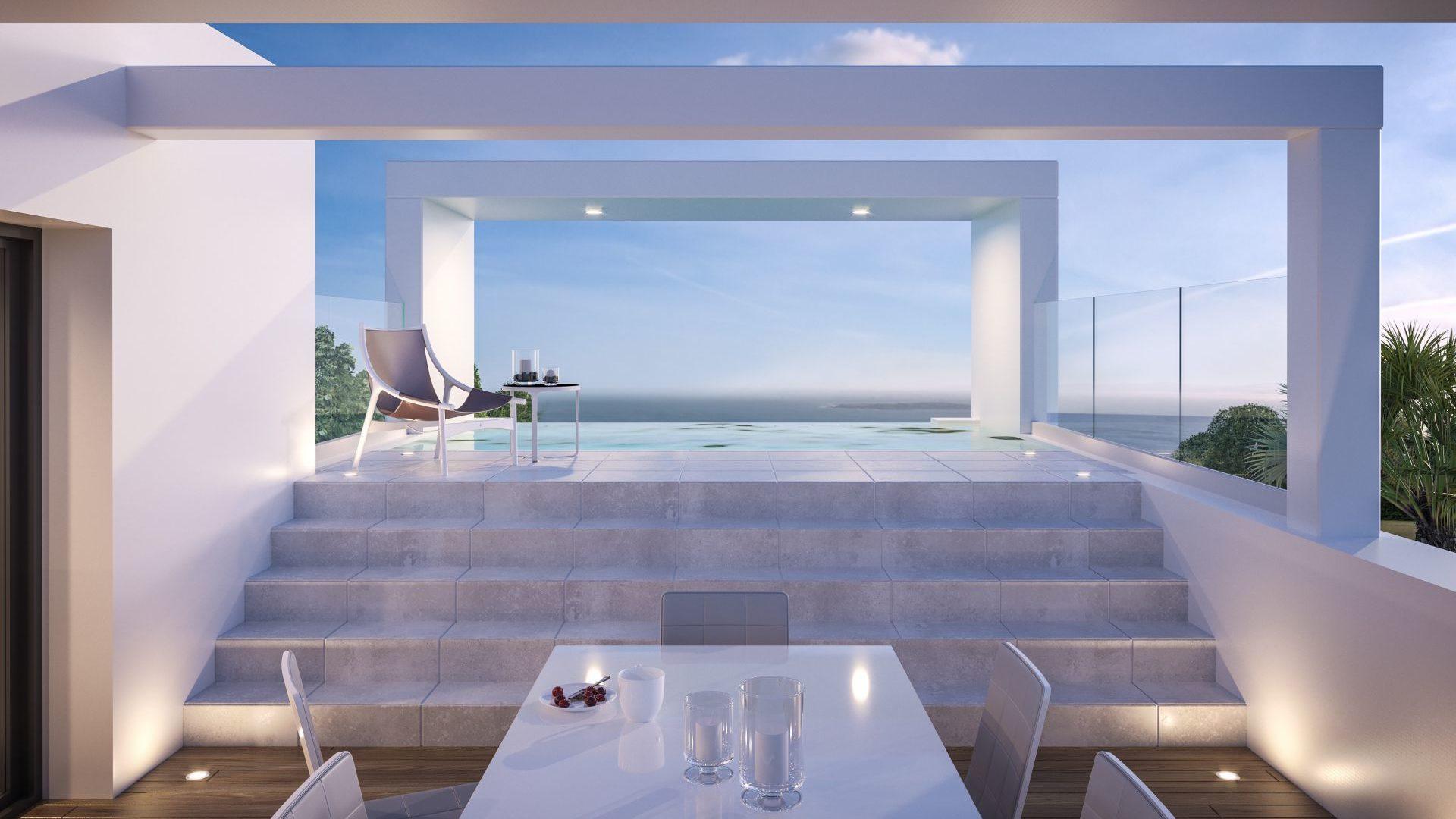 Villa moderne avec vue sur la mer