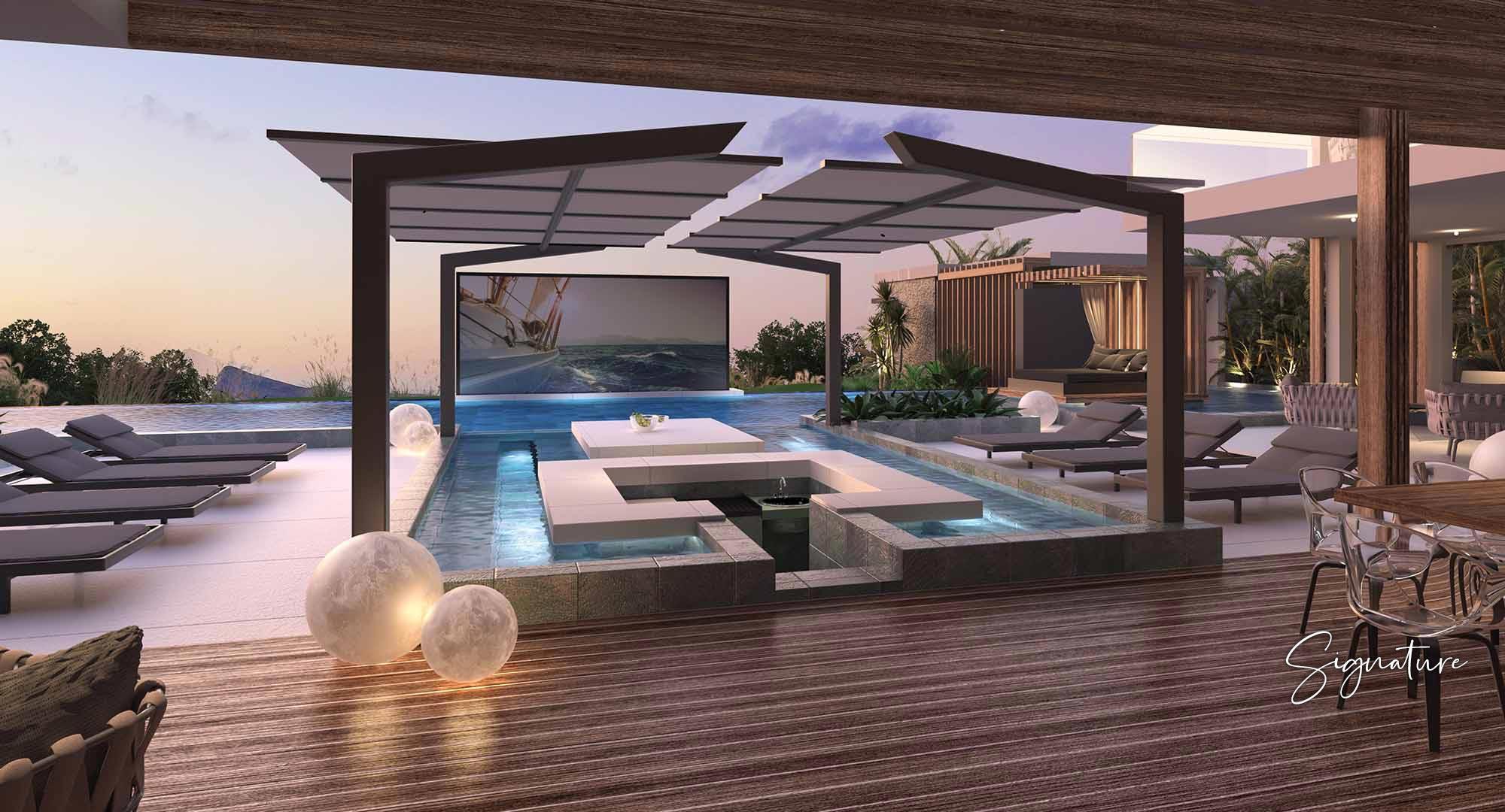 Vivez dans une propriété de luxe moderne à Cap Malheureux
