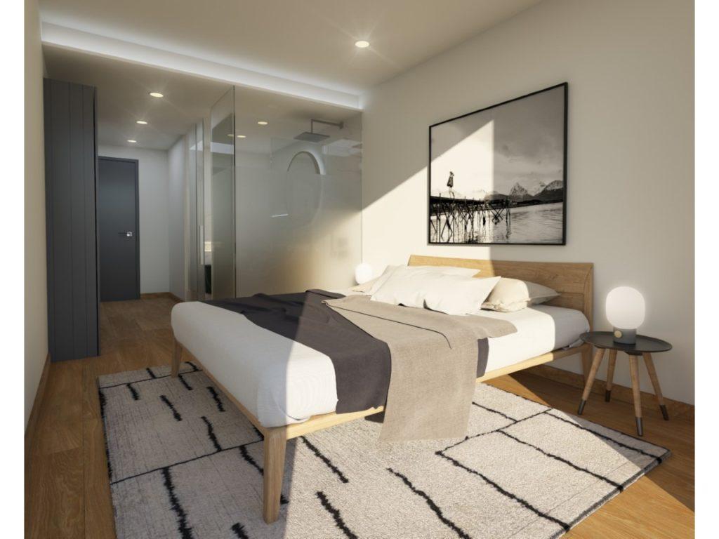 Appartement jumelé sur deux niveaux avec terrasses et jardins privés