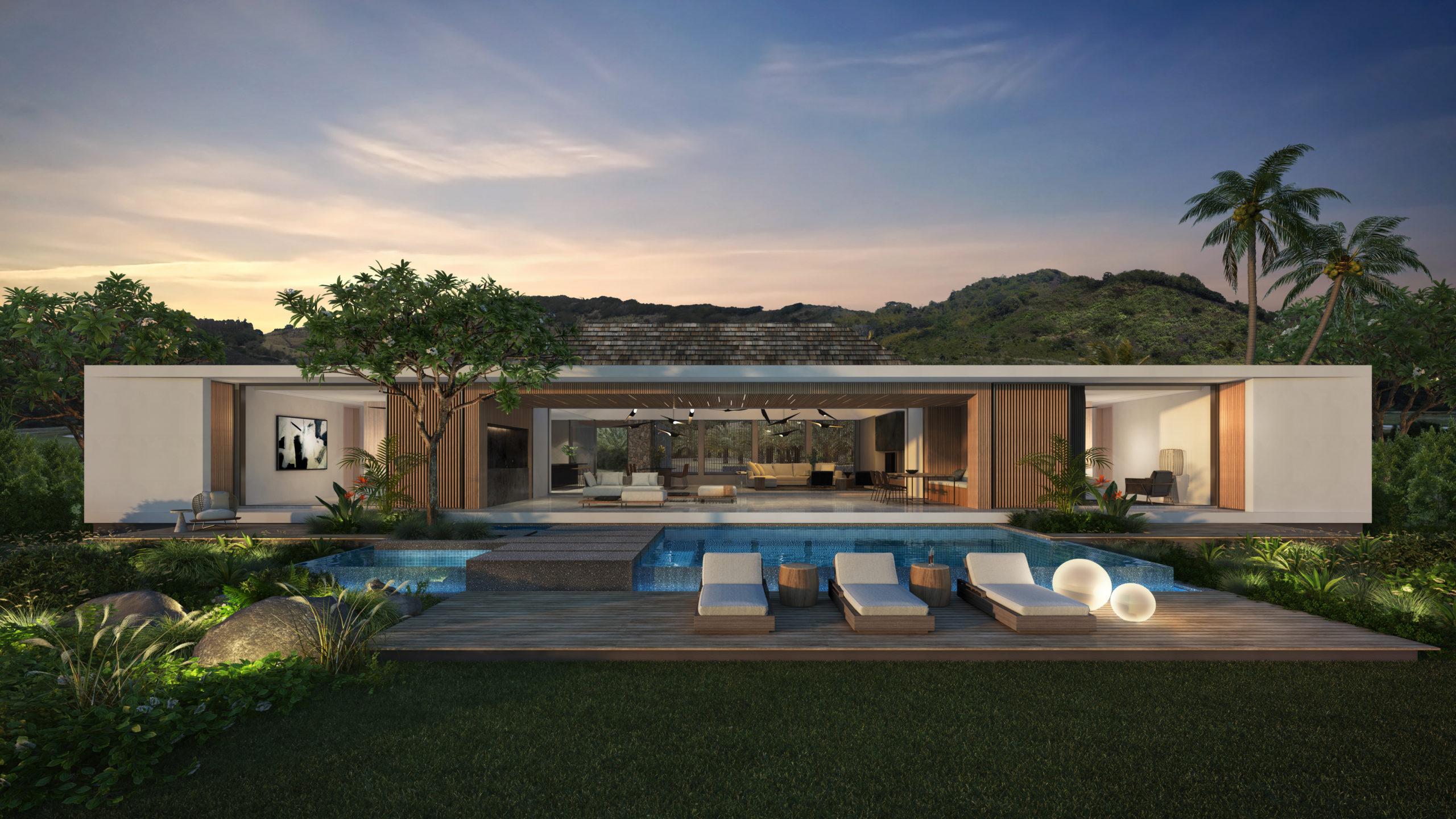 Villas contemporaines à vendre sur plan ou VEFA | île Maurice