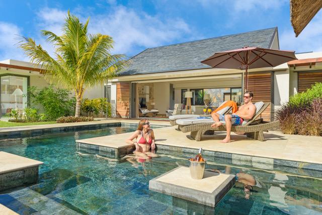 Villa contemporaine de plan pieds, d'excellente construction île Maurice