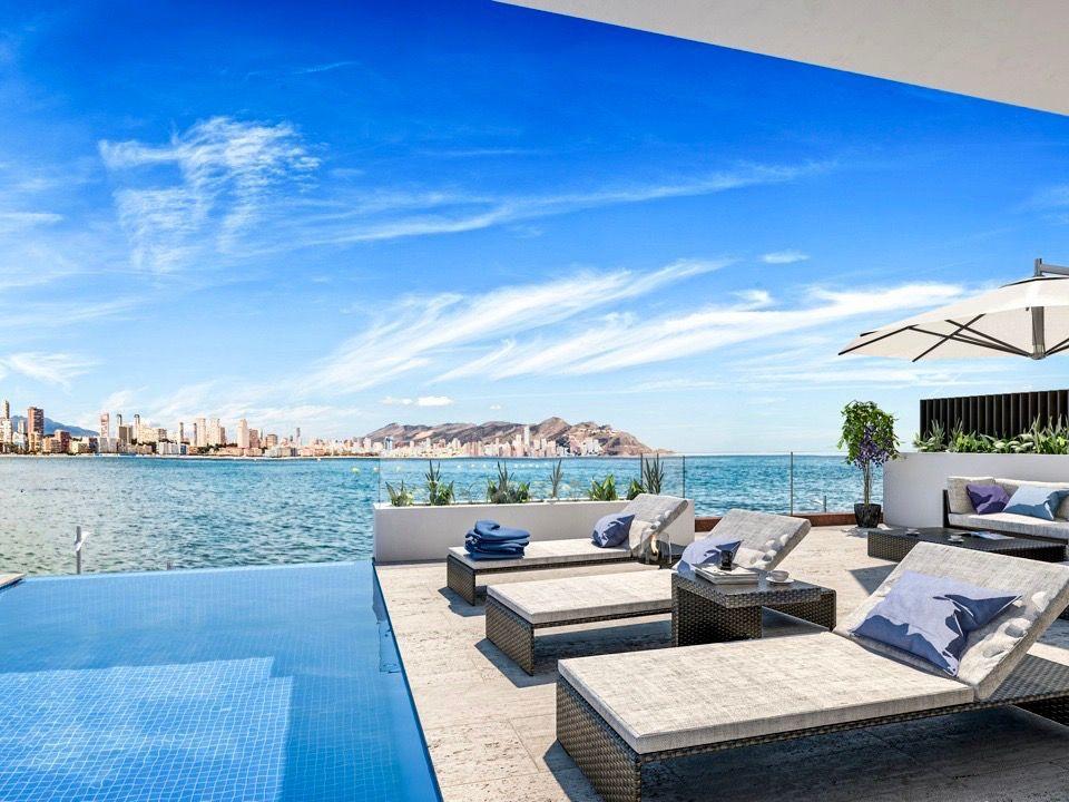 Appartement De Luxe Face À La Mer À Benidorm Espagne