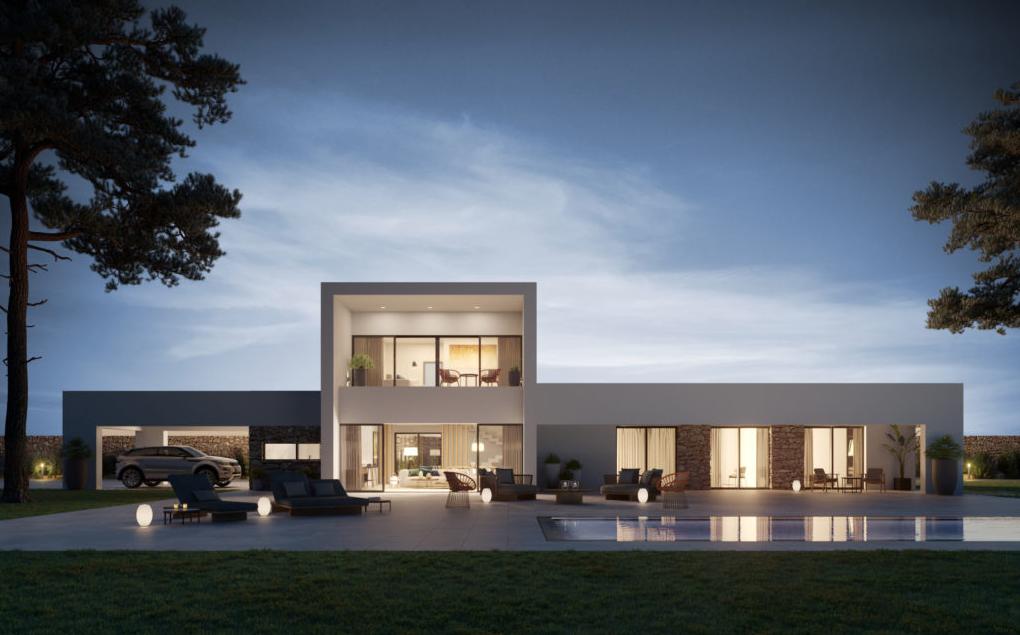 Costa del Sol Villa sur plan de 235m2 de 4 chambres à vendre