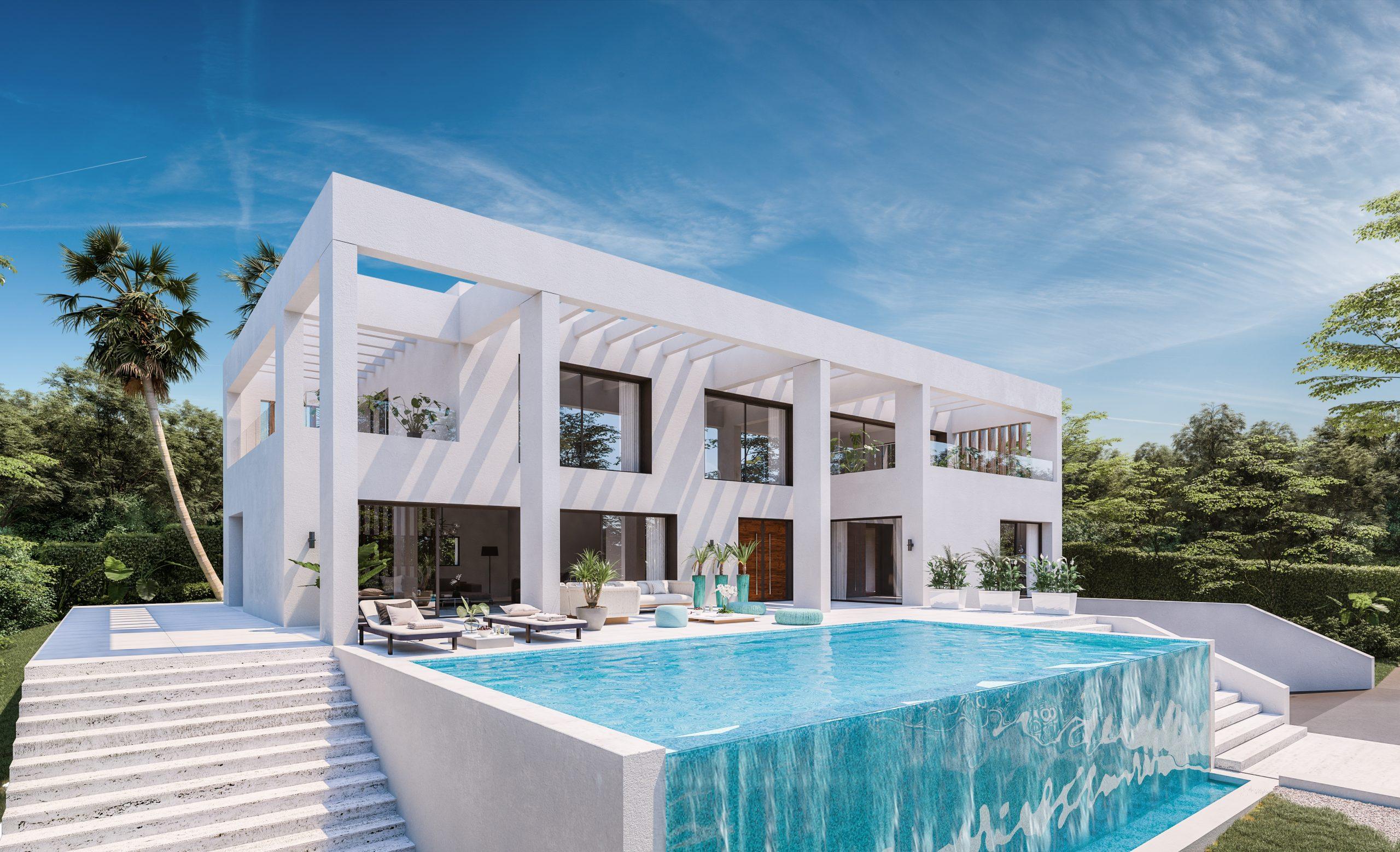 Projet d'habitation modulaire en béton entièrement privé