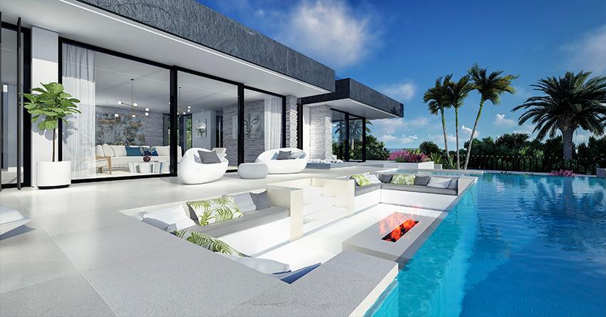 Villa sur plan 4 chambres vue sur la mer Costa del Sol Benahavis Espagne