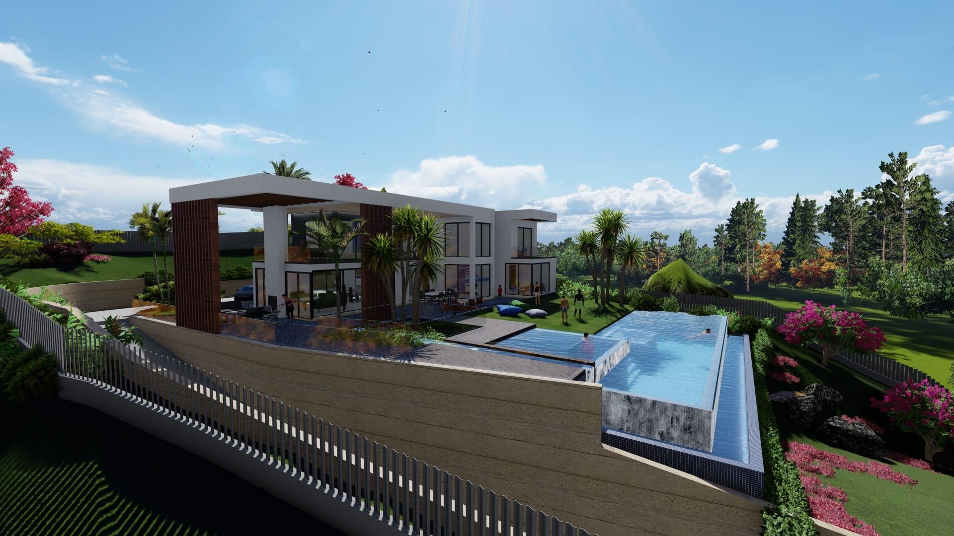 Villa neuve contemporaine surface 271,16m² sur un terrain de 2000m²