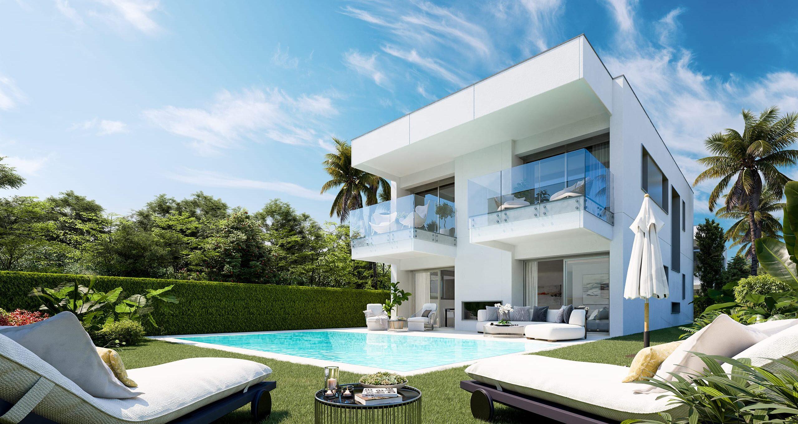 Combinaison de maisons modernes dans un emplacement de choix à Marbella