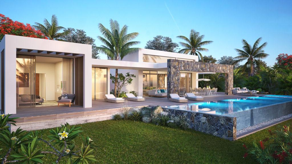 villa de luxe, sur un terrain en pleine propriété. Anahita Mauritius